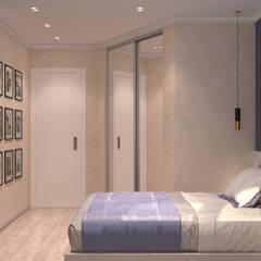 спальня в Мытищах: Маленькие спальни в . Автор – СТУДИЯ ДИЗАЙНА ЭЛИТНЫХ ИНТЕРЬЕРОВ АЛЕКСАНДРА ЕЛАШИНА.