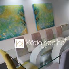 Projeto de Moradia em Esposende: Salas de jantar  por Atelier Kátia Koelho