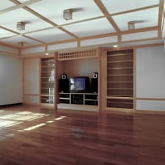 classic Media room by 京采空間設計