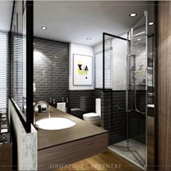 Mordern style at 808 Thomson Road:  Bathroom by Singapore Carpentry Interior Design Pte Ltd,Modern