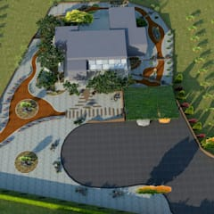 Mimari 3D Render  – Bozcaada Bağevi Peyzaj Projesi:  tarz Bahçe