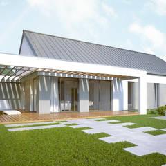 Casas ecológicas de estilo  por Hexa Green Projekty domów