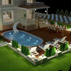 حیاط توسطMimari 3D Render , مدرن