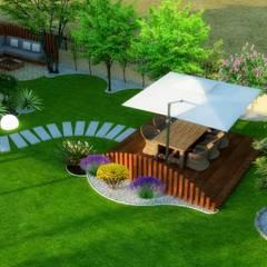 Mimari 3D Render  – Peyzaj Projesi - Çanakkale/Güzelyalı:  tarz Bahçe, Modern