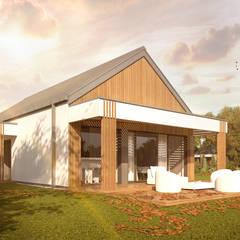 Projekt domu HG 10 energo+: styl , w kategorii Dom jednorodzinny zaprojektowany przez Hexa Green Projekty domów pasywnych