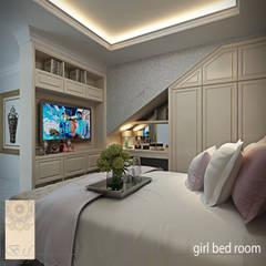 Phòng ngủ bé gái by Studio Ardhyaksa