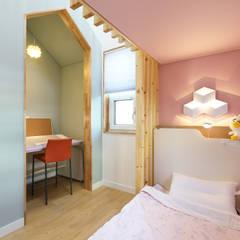 좁은땅을 디자인으로 극복한 용인주택 by 주택설계전문 디자인그룹 홈스타일토토 모던 우드 우드 그레인