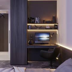 Апартаменты Europa City от бюро Suite n.7: Рабочие кабинеты в . Автор – Suiten7