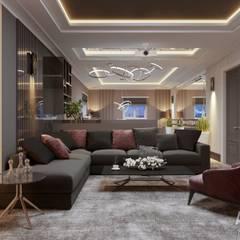 Коттедж за городом: Медиа комнаты в . Автор – Студия авторского дизайна ASHE Home