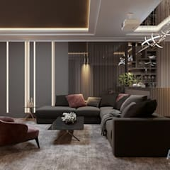 Media room by Студия авторского дизайна ASHE Home