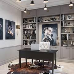 Коттедж за городом: Рабочие кабинеты в . Автор – Студия авторского дизайна ASHE Home