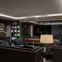 Коттедж в Давлеканово: Медиа комнаты в . Автор – Студия авторского дизайна ASHE Home