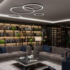 غرفة الميديا تنفيذ Студия авторского дизайна ASHE Home