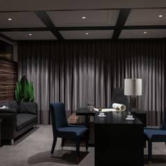 Коттедж в Давлеканово: Рабочие кабинеты в . Автор – Студия авторского дизайна ASHE Home