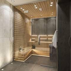 Saunas de estilo  por Студия авторского дизайна ASHE Home