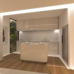 Reabilitação de Edifício no Porto - Nostalgic Expression: Cozinhas  por Office of Feeling Architecture, Lda