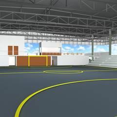 """""""Complexo de Lazer para Sarutaiá – SP: Fitness  por Cristhiano Aguiar - Arquitetura"""