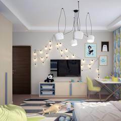 ДОМ ДЛЯ БОЛЬШОЙ СЕМЬИ: Спальни для мальчиков в . Автор – Инна Азорская