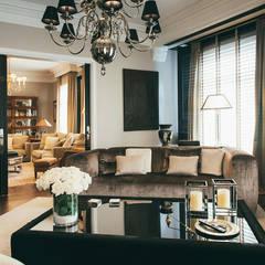 Reformar y redecorar una casa en la coruña: Salones de estilo  de LUCIA PARGA INTERIORISTA
