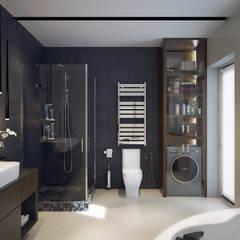 ДОМ ДЛЯ БОЛЬШОЙ СЕМЬИ: Ванные комнаты в . Автор – Инна Азорская