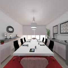 Sala de reuniões: Escritórios  por Atelier Paula Pereira