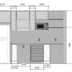 Vista: Muebles de cocinas de estilo  por Ponce Interiores