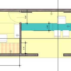Plano: Estudios y oficinas de estilo  por Ponce Interiores