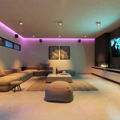 COSTA67: Salas multimedia de estilo  por CODIAN CONSTRUCTORA, Minimalista