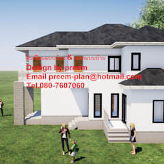 Projekty,  Bungalow zaprojektowane przez รับเขียนแบบบ้าน&ออกแบบบ้าน