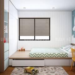 Projekty,  Małe sypialnie zaprojektowane przez Công ty TNHH Nội Thất Mạnh Hệ