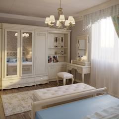 """Дом """"Шале"""": Спальни в . Автор – дизайн-студия PandaDom"""