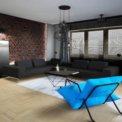 Męski salon, Bydgoszcz: styl , w kategorii Salon zaprojektowany przez meinDESIGN