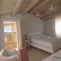 Suite piano secondo: Camera da letto in stile  di Ing. Massimiliano Lusetti
