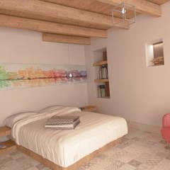 Suite piano terra: Camera da letto in stile  di Ing. Massimiliano Lusetti
