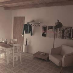 Angolo relax piano primo: Soggiorno in stile  di Ing. Massimiliano Lusetti