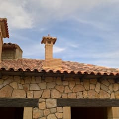 """Vivienda unifamiliar aislada en """"Cañete"""" (Cuenca).: Casas de estilo  de RS-ARQUITECTOS"""