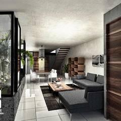 Salas de estilo  por Heftye Arquitectura, Moderno Concreto
