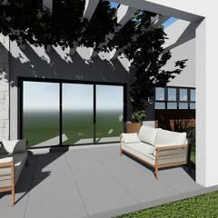 Residência Contemporânea: Jardins de fachadas de casas  por Cláudia Legonde