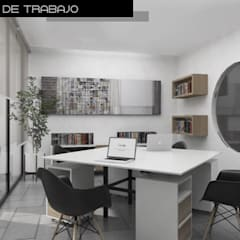 Estudios y despachos de estilo  por Heftye Arquitectura