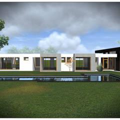 Projekty,  Dom jednorodzinny zaprojektowane przez Vicente Espinoza M. - Arquitecto