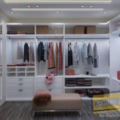 مشروع فيلا القاهره الجديدة:  غرفة الملابس تنفيذ Archeffect, حداثي