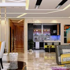 مشروع فيلا القاهره الجديدة:  غرفة المعيشة تنفيذ Archeffect