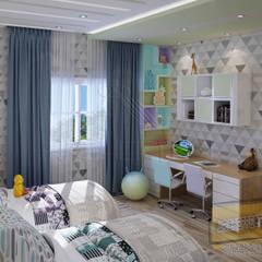 مشروع فيلا القاهره الجديدة:  غرفة الاطفال تنفيذ Archeffect