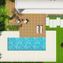 منازل التراس تنفيذ Cíntia Schirmer | Estúdio de Arquitetura e Urbanismo