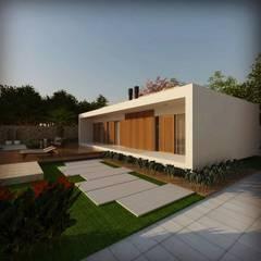 Nhà có sân thượng by Cíntia Schirmer | Estúdio de Arquitetura e Urbanismo