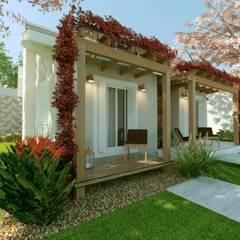 CASA RP -opção de fachada 02: Chalés e casas de madeira  por Cíntia Schirmer | arquiteta e urbanista
