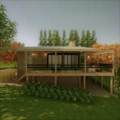 Log cabin by Cíntia Schirmer | Estúdio de Arquitetura e Urbanismo
