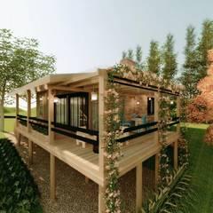 Bungalows de estilo  de Cíntia Schirmer | Estúdio de Arquitetura e Urbanismo