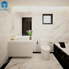 Nội thất phòng tắm hiện đại, tiện dụng:  Phòng tắm by Công ty TNHH Nội Thất Mạnh Hệ