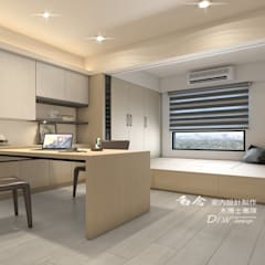 書房/客房/臥室/歐式系統傢俱:  書房/辦公室 by 木博士團隊/動念室內設計制作